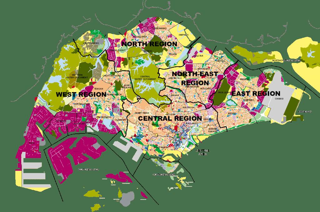 Executive Condominium Singapore - Singapore Region Map