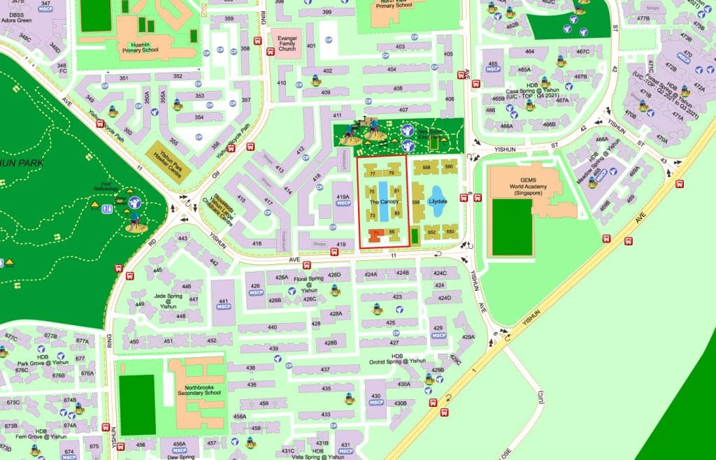 The Canopy EC Street Directory Map