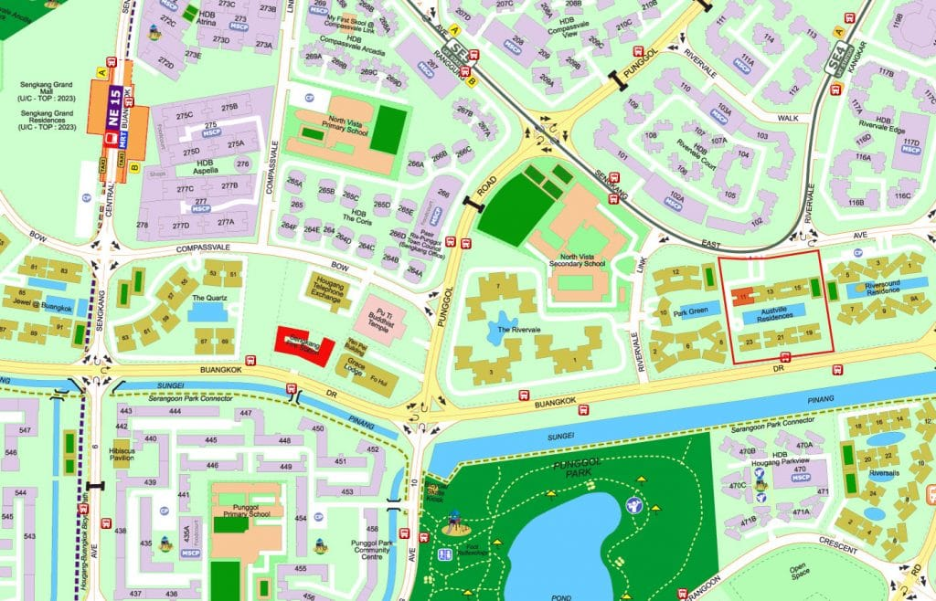 Austville Residences EC Street Directory Map
