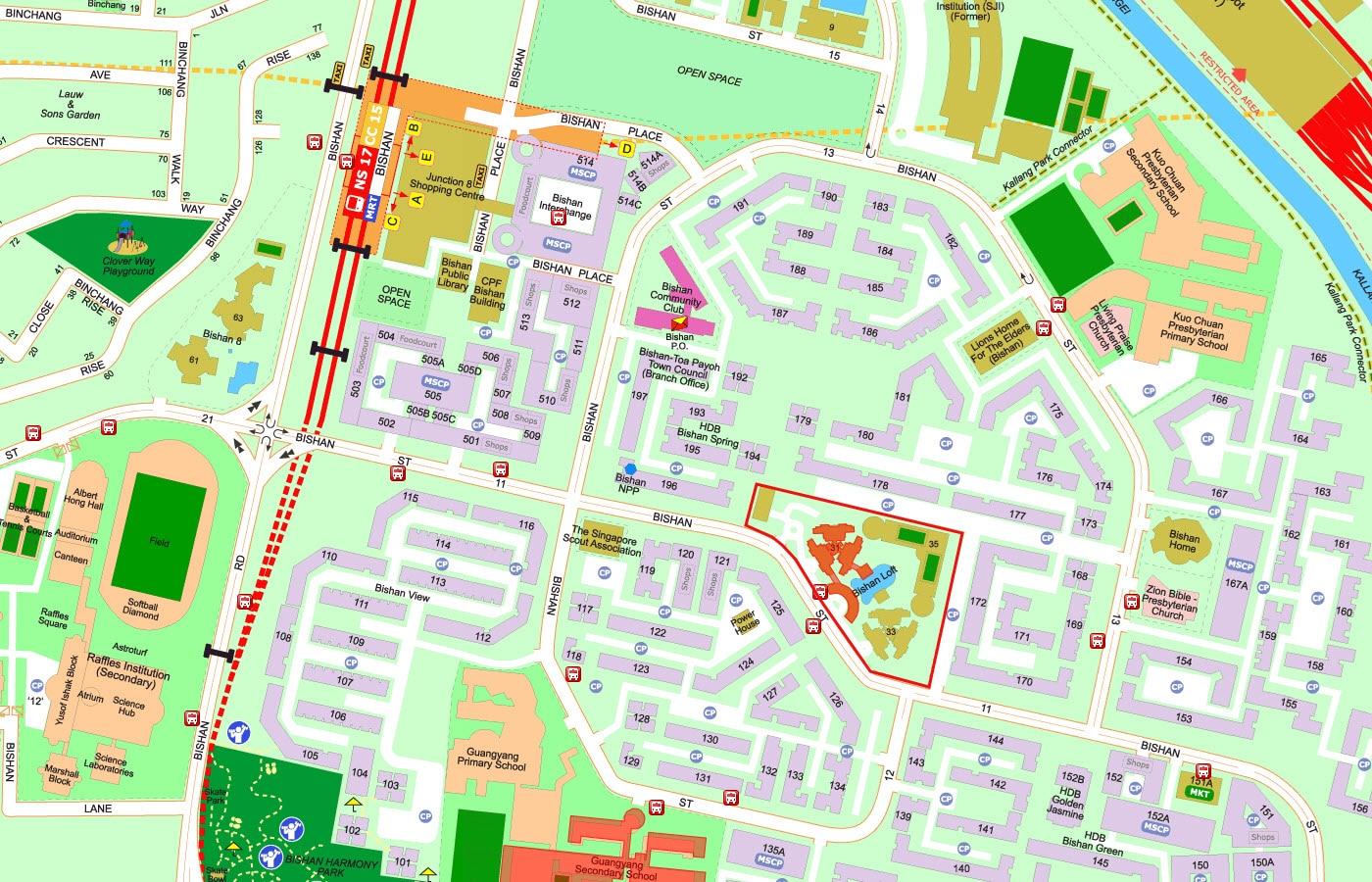 Bishan Loft EC Street Directory Map