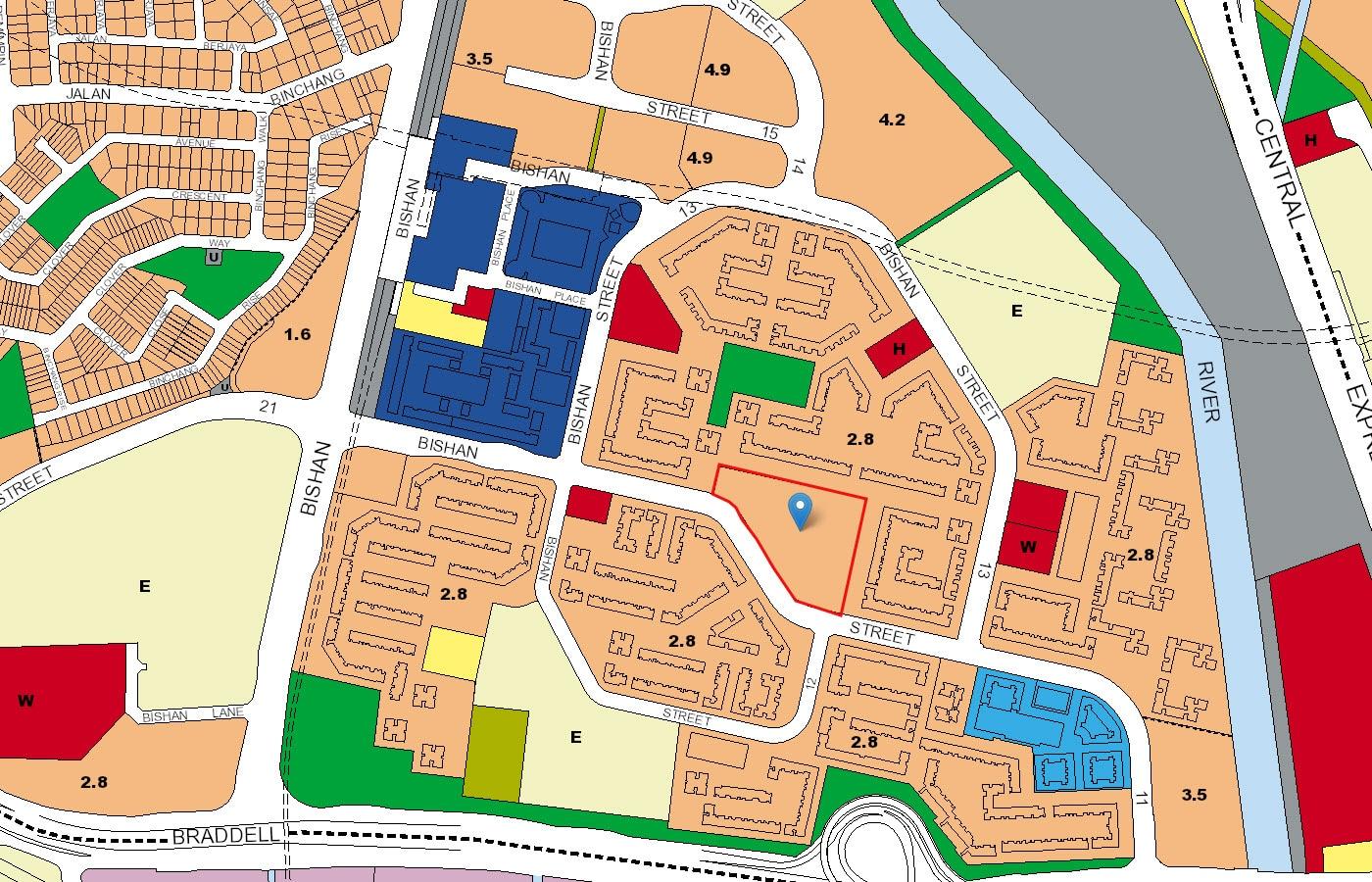 Bishan Loft EC URA Map
