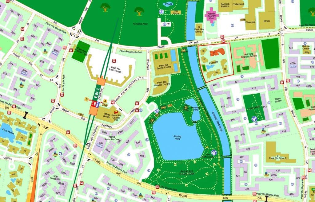 Eastvale EC Street Directory Map