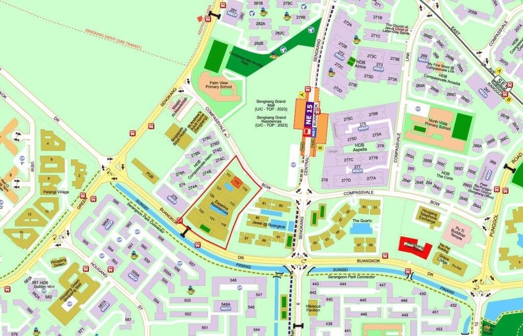 Esparina Residences EC Street Directory Map
