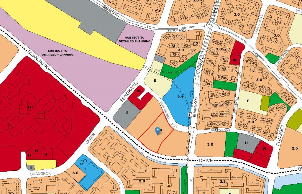 Esparina Residences EC URA Map