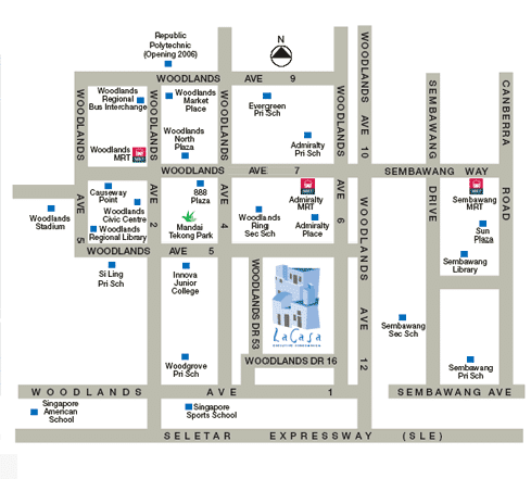 LA Casa EC Location Map