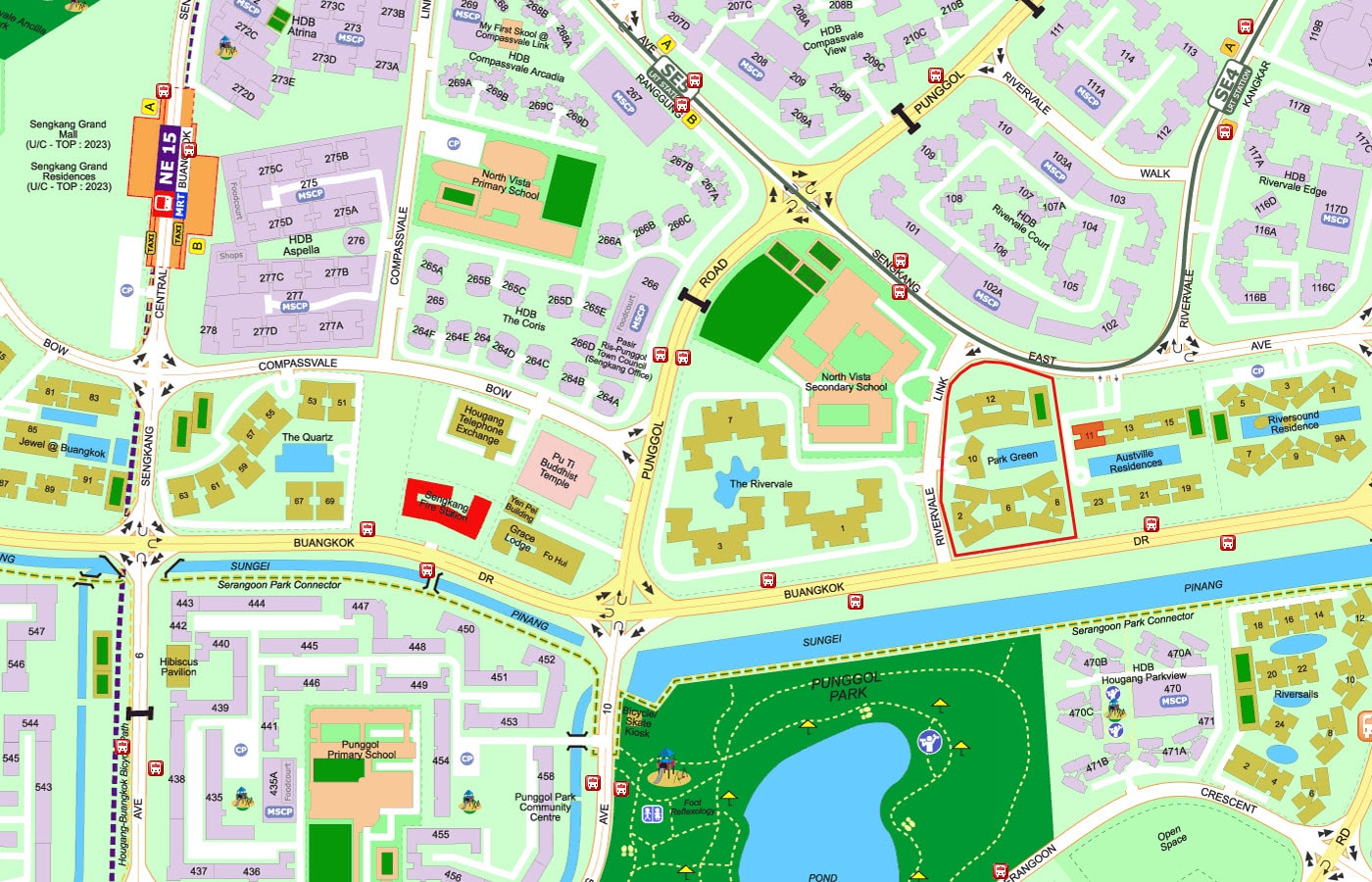 Park Green EC Street Directory Map