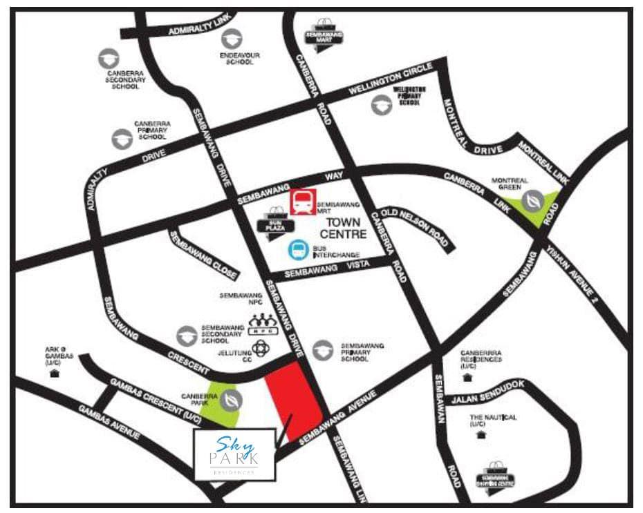 Skypark Residences EC Location Map