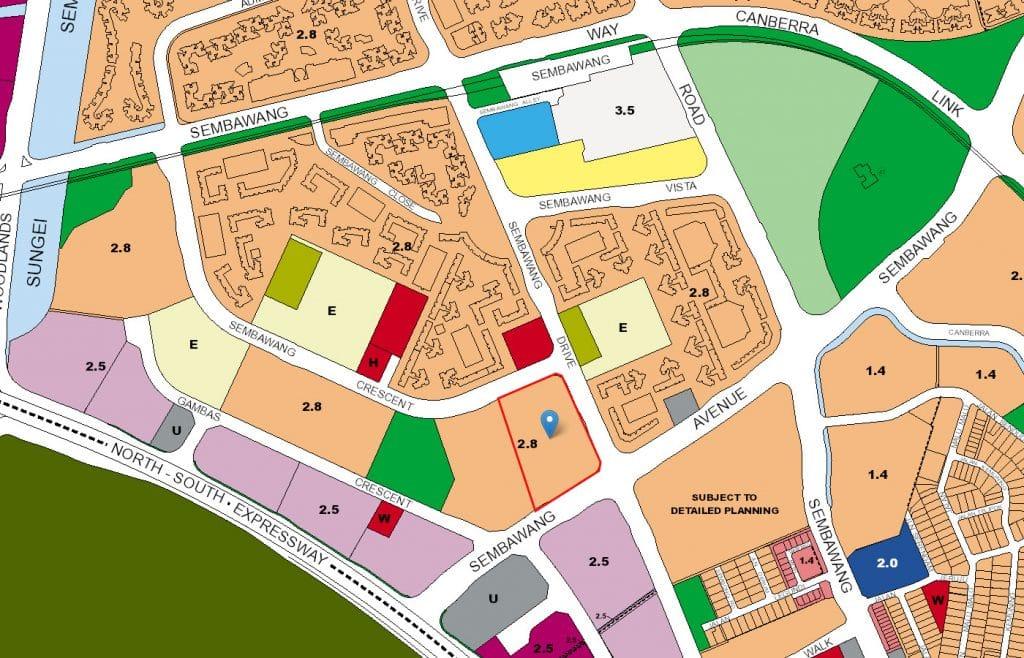Skypark Residences EC URA Map