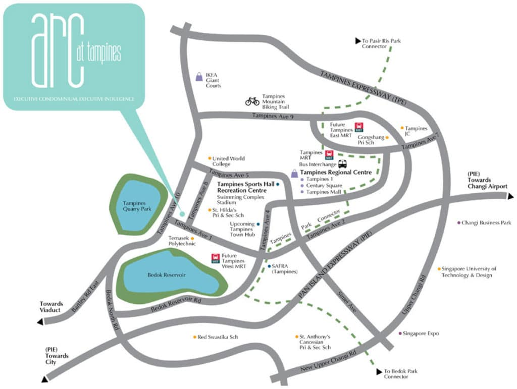 Arc at Tampines EC Location Map