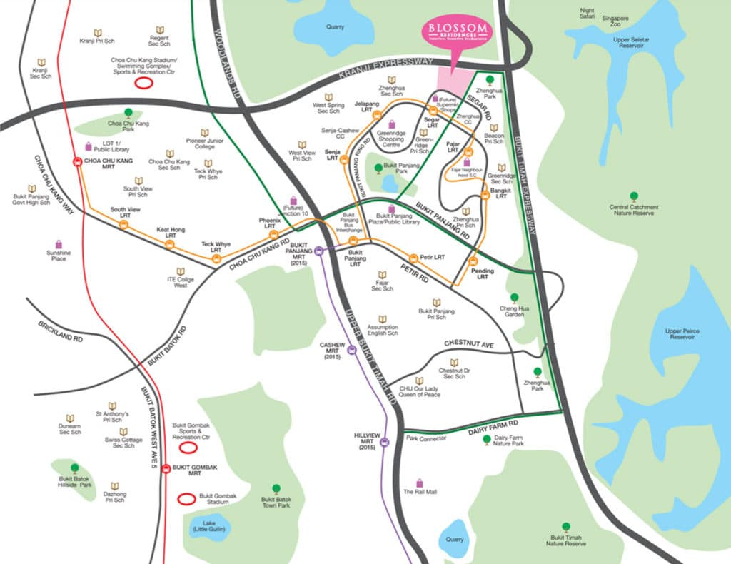 Blossom Residences EC Location Map