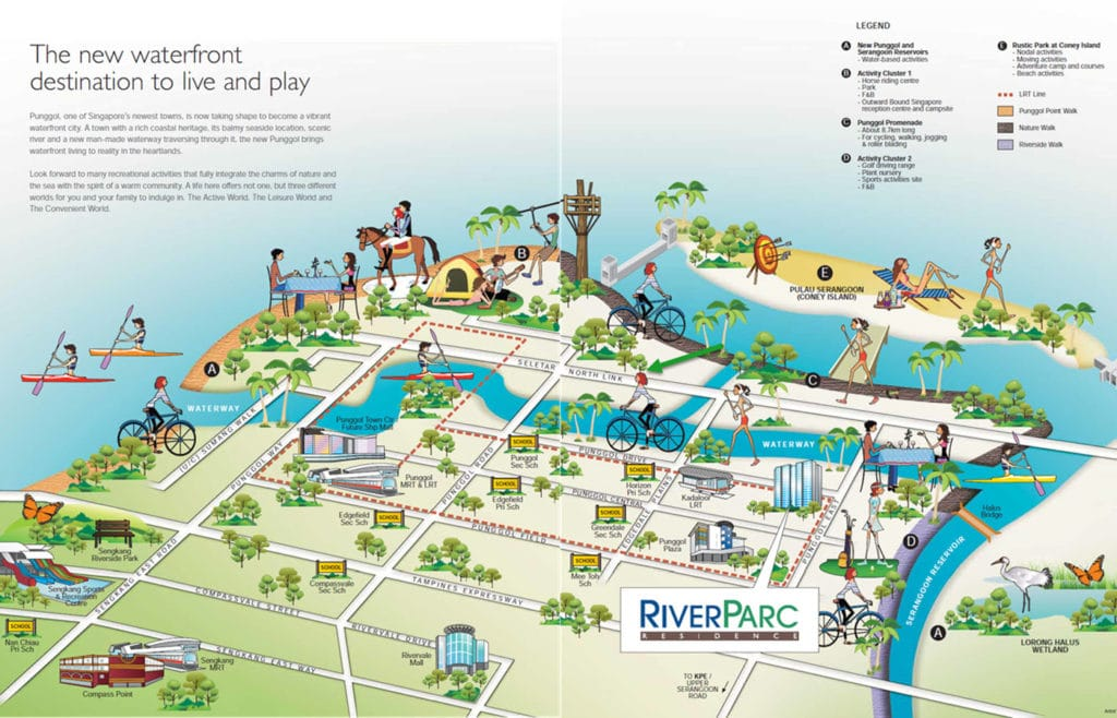 Riverparc Residence EC Location Map