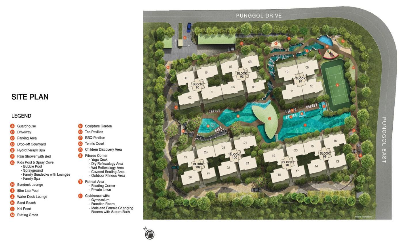 Riverparc Residence EC Site Plan
