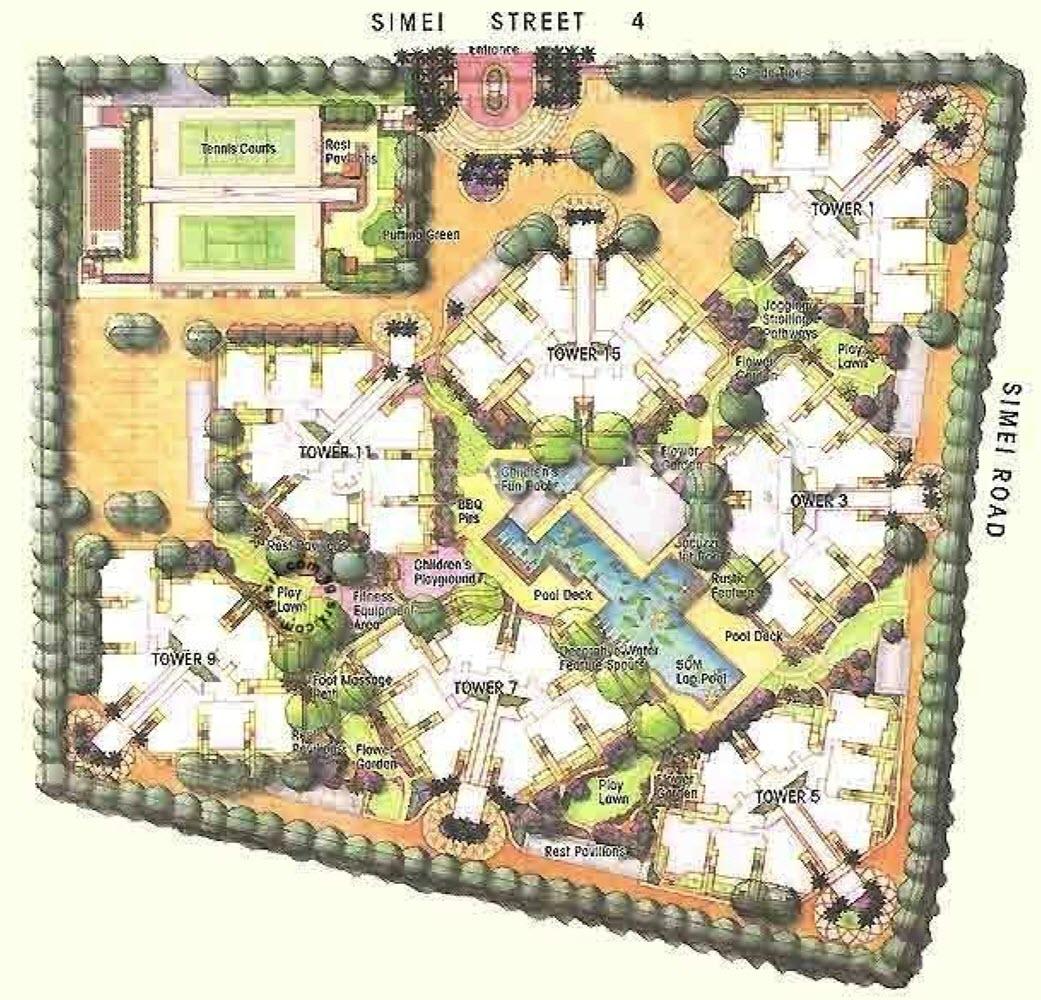 Simei Green Condominium EC Site Plan