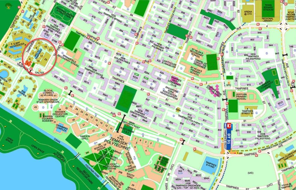 ARC At Tampines EC Street Directory Map