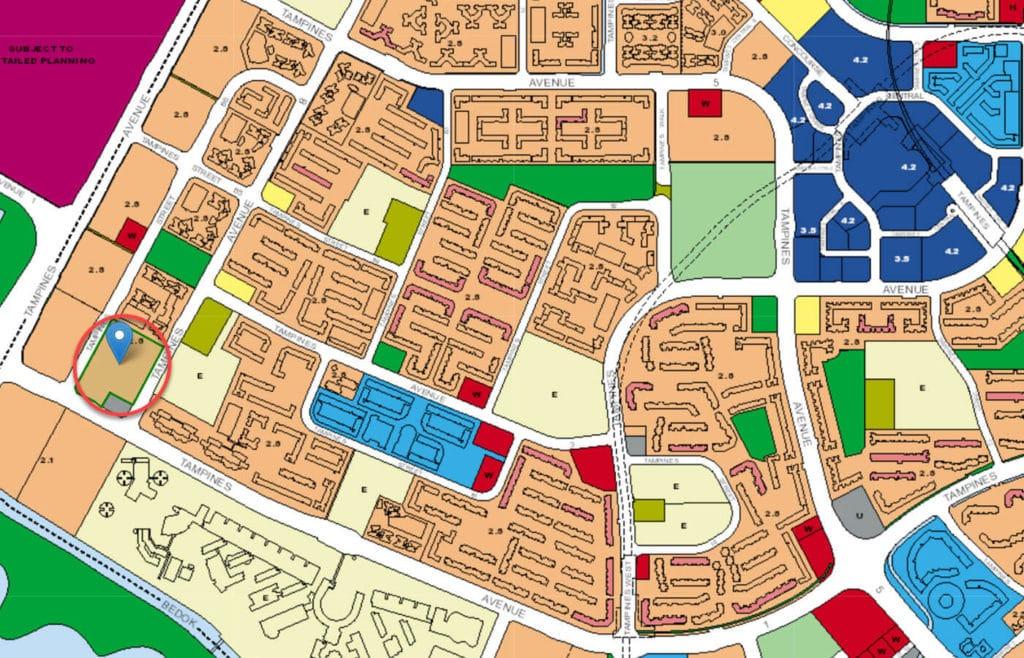 ARC At Tampines EC URA Master Plan Map
