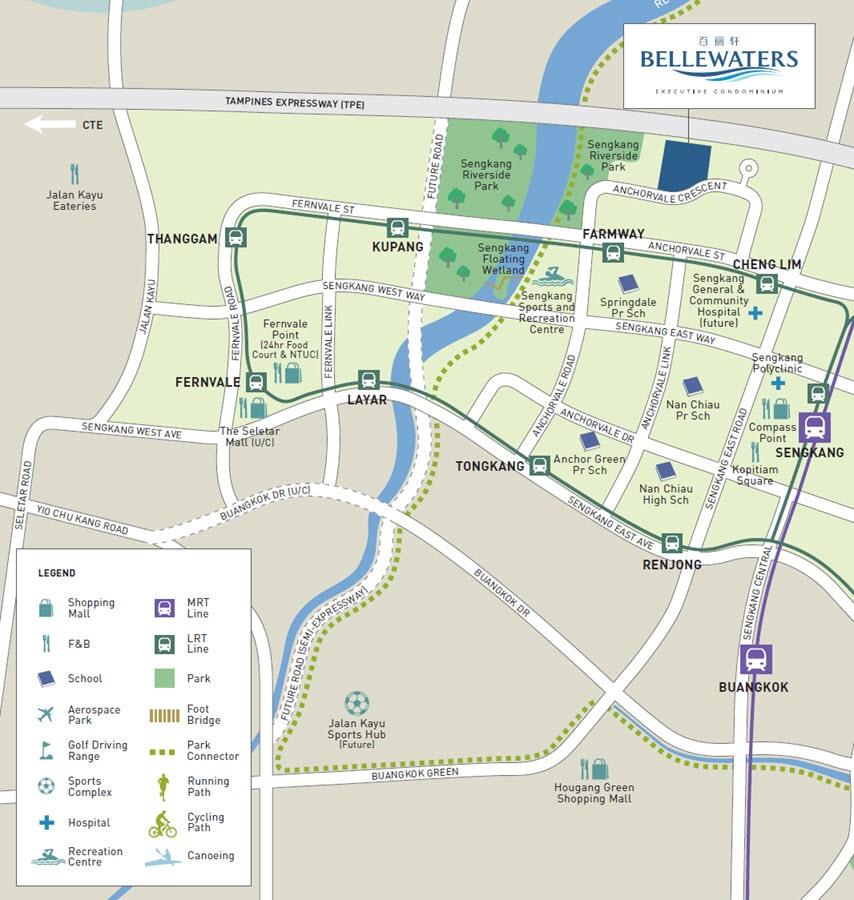 BelleWaters EC Location Map