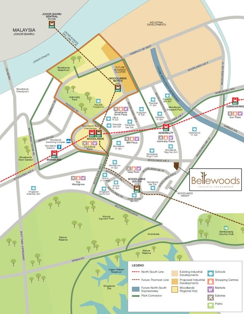 BelleWoods EC Location Map
