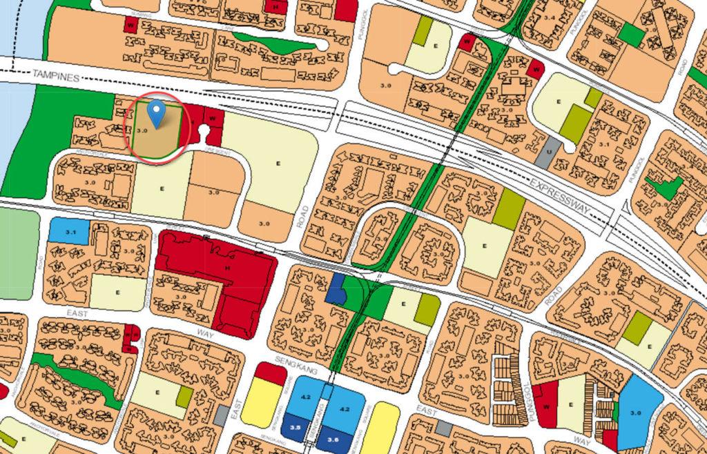 Bellewaters EC URA Master Plan Map