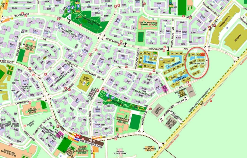 Bellewoods EC Street Directory Map