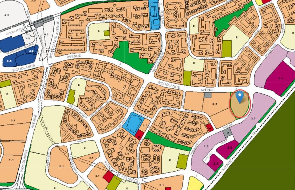 Bellewoods EC URA Master Plan Map