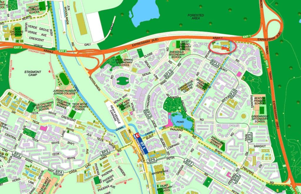 Blossom Residences EC Street Directory Map