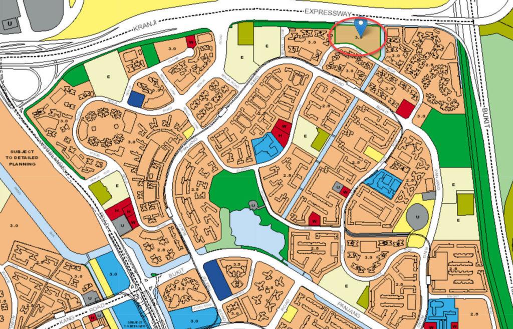 Blossom Residences EC URA Master Plan Map