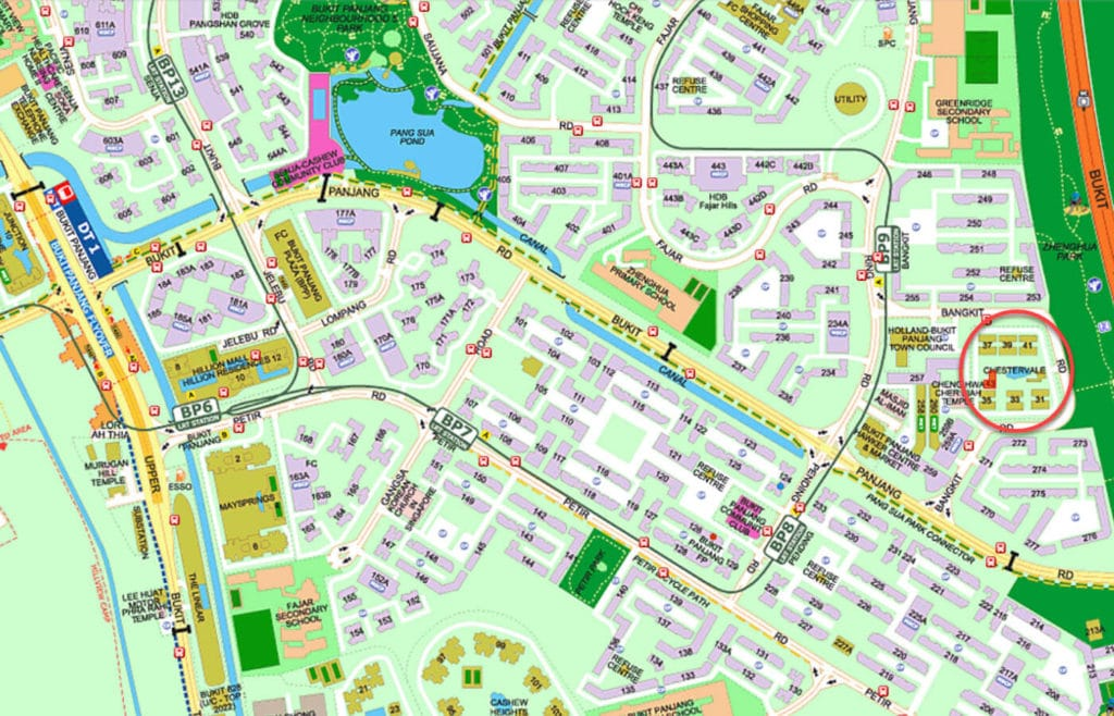 Chestervale EC Street Directory Map