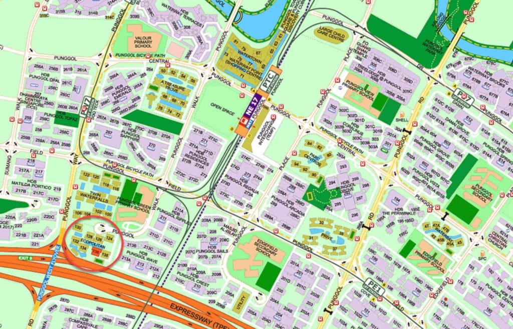 Ecopolitan EC Street Directory Map