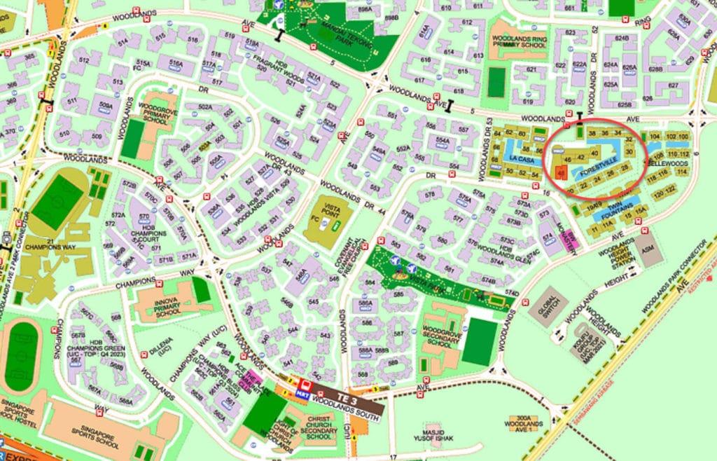 Forestville EC Street Directory Map