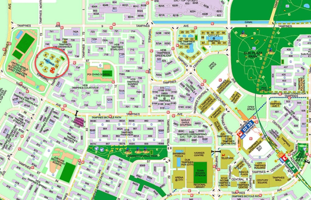 Pinevale EC Street Directory Map