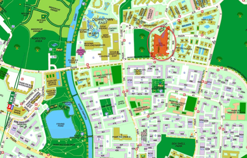 Sea Horizon EC Street Directory Map