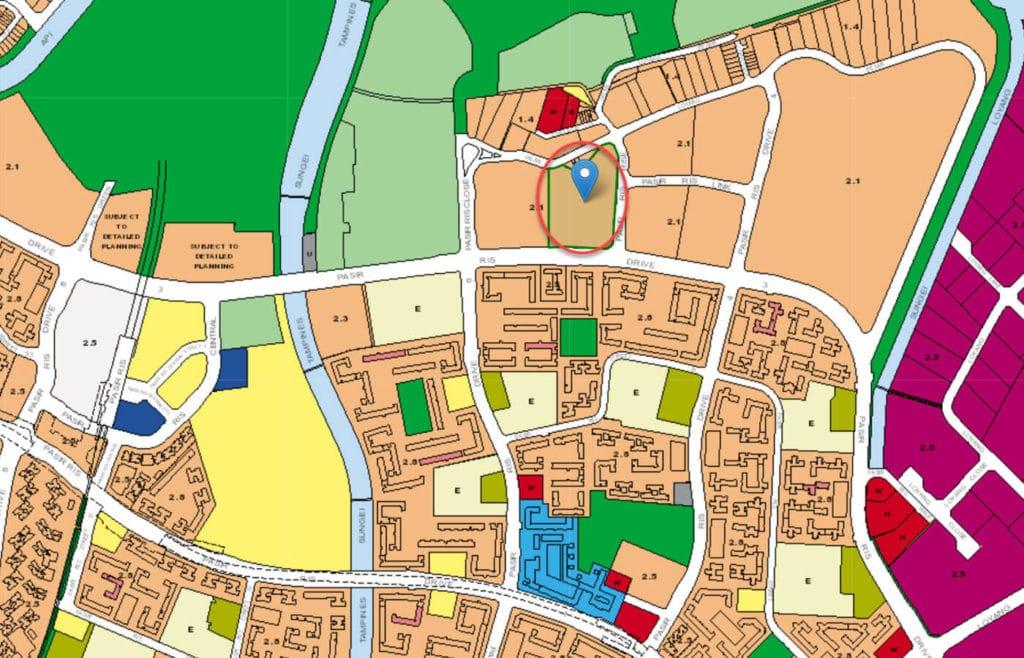 Sea Horizon EC URA Master Plan Map