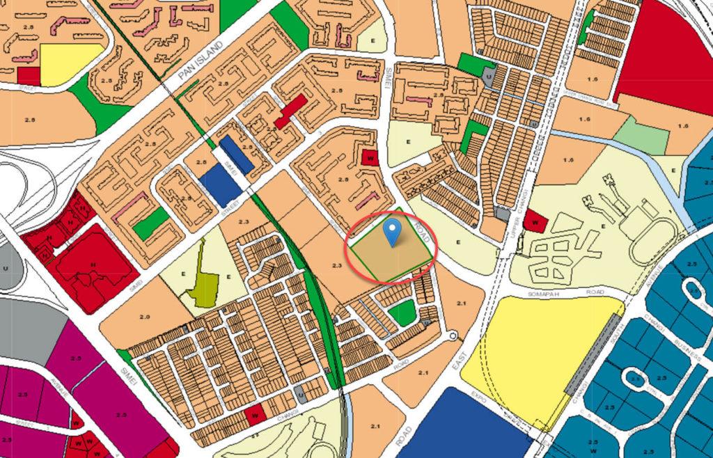 Simei Green Condominium EC URA Master Plan Map