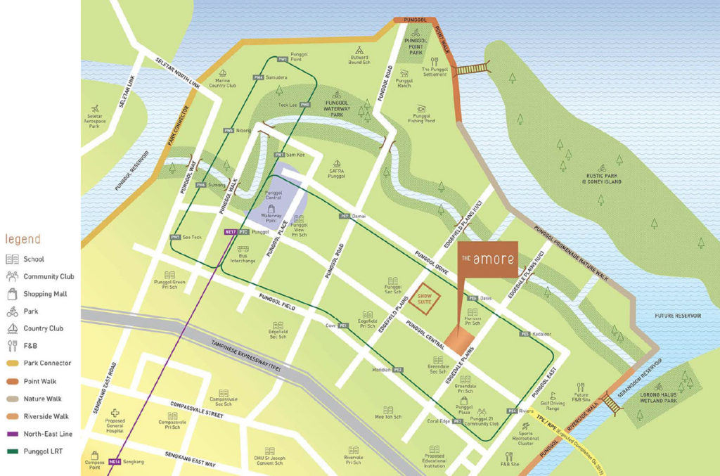 The Amore EC Location Map