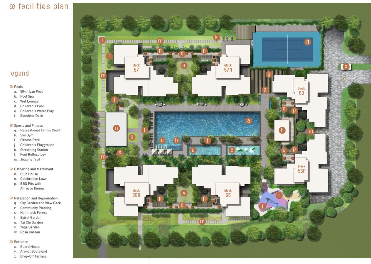 The Amore EC Site Plan