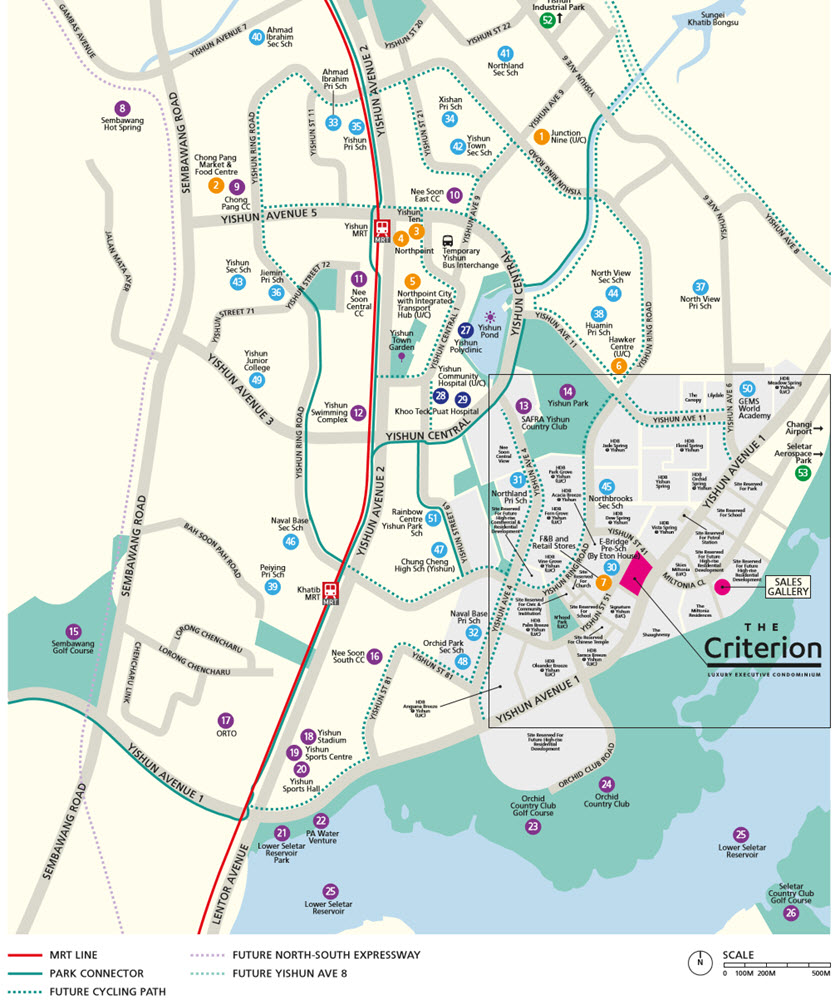 The Criterion EC Location Map