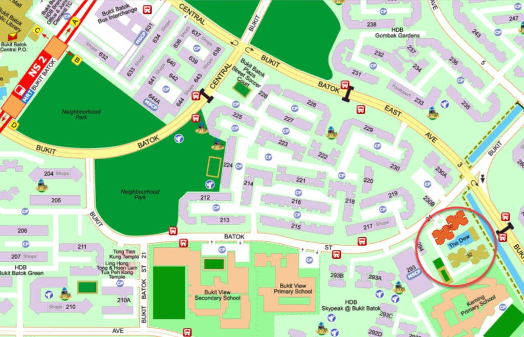 The Dew EC Street Directory Map