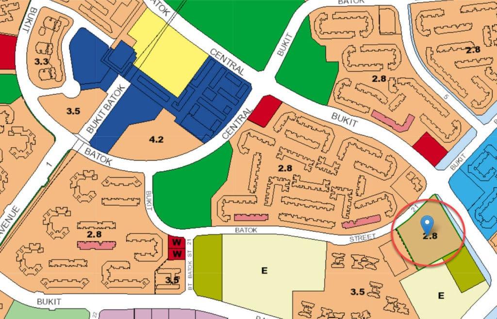 The Dew EC URA Master Plan Map