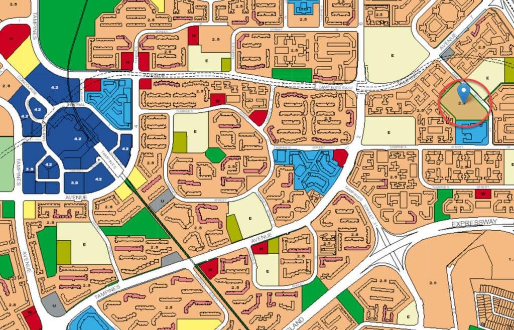 The Eden At Tampines EC URA Master Plan Map