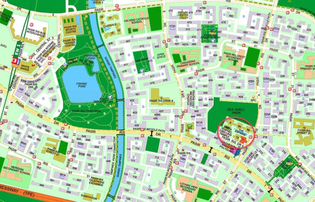 The Esparis EC Street Directory Map