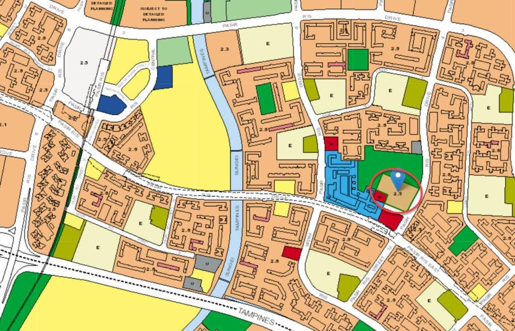The Esparis EC URA Master Plan Map