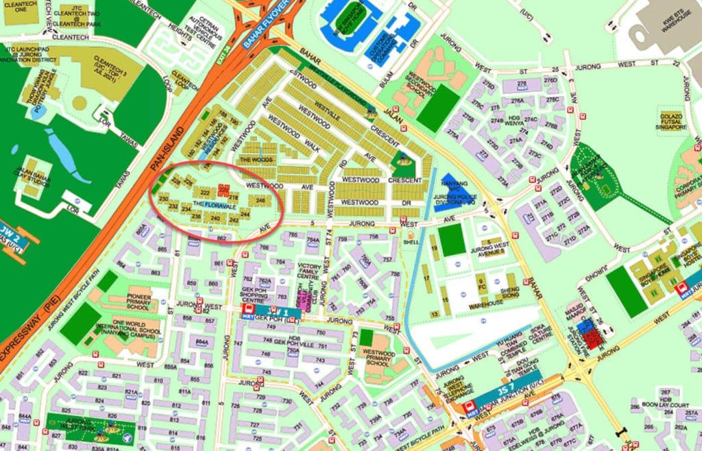 The Floravale EC Street Directory Map