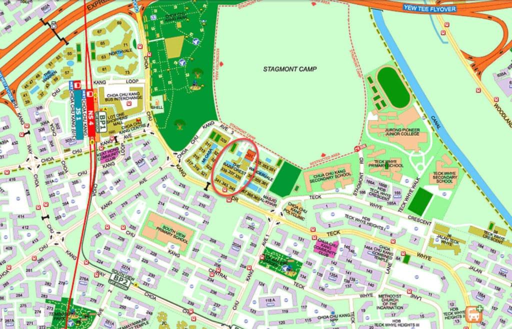 The Rainforest EC Street Directory Map