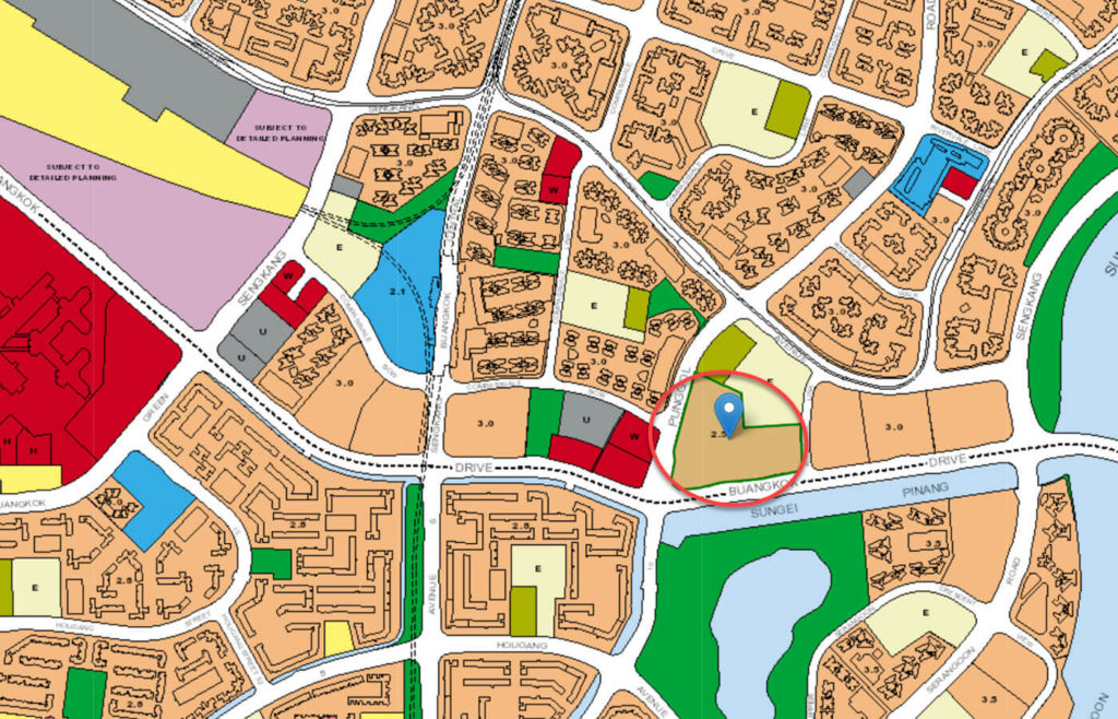 The Rivervale EC URA Master Plan Map