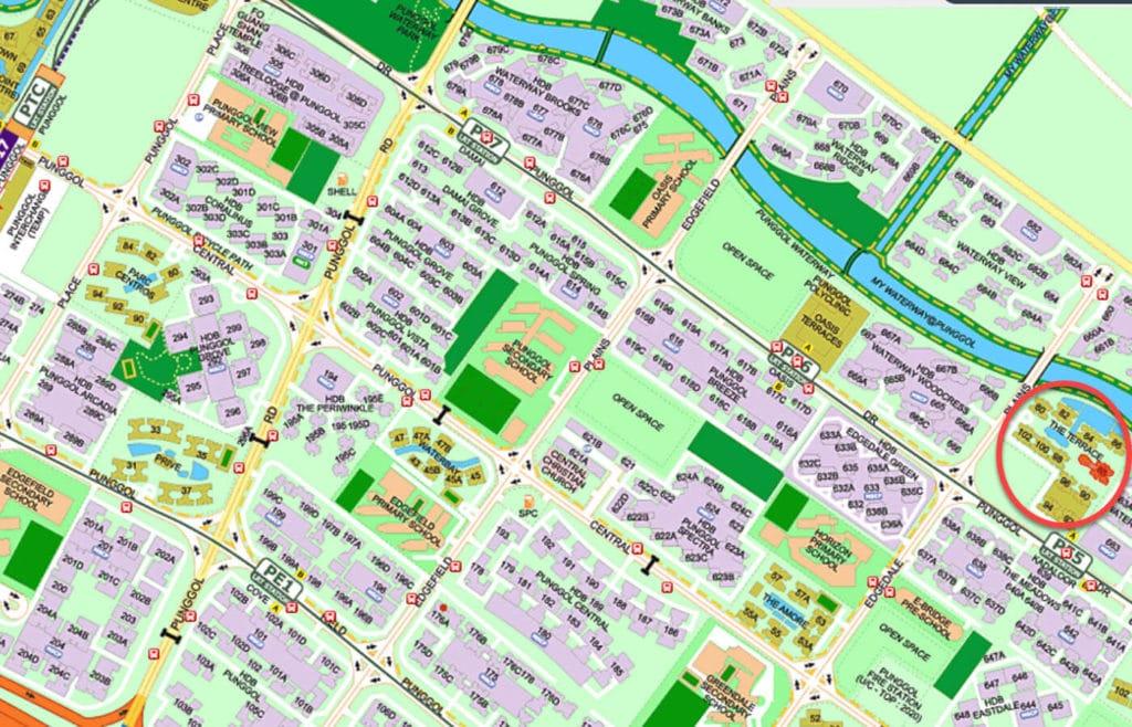 The Terrace EC Street Directory Map
