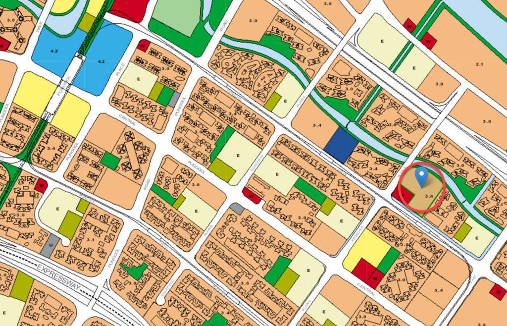 The Terrace EC URA Master Plan Map