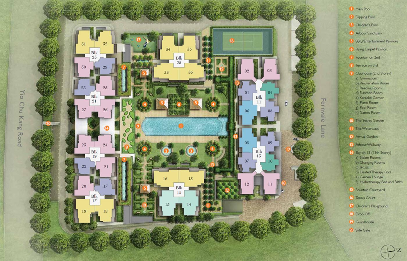 The Topiary EC Site Plan