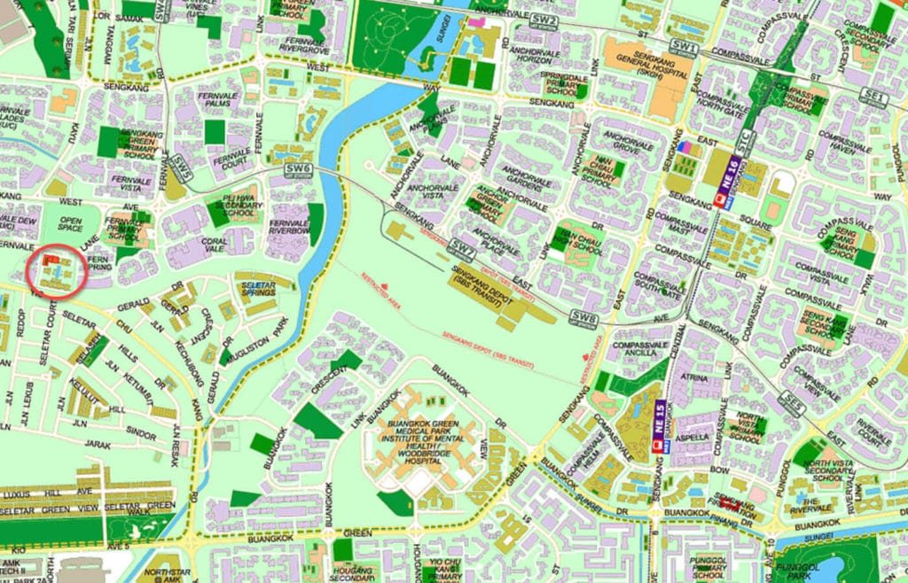 The Topiary EC Street Directory Map