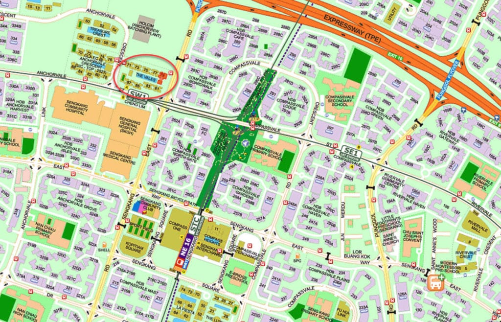 The Vales EC Street Directory Map