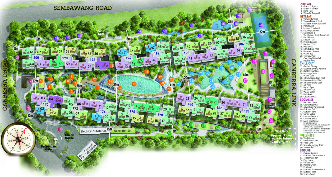The Visionaire EC Site Plan